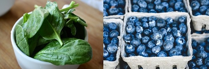 שילובי מזון לריפוי דלקות: אוכמניות ותרד