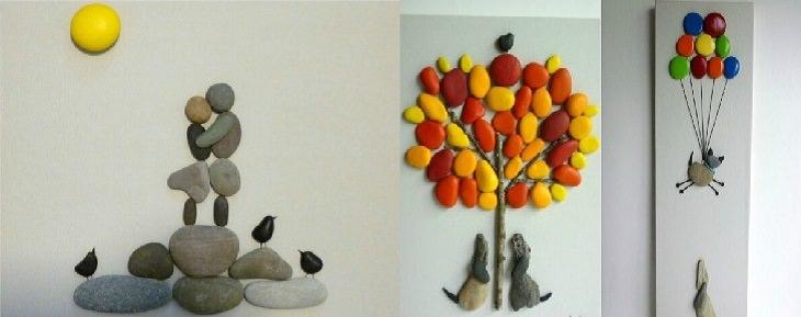 יצירות שאפשר להכין מאבנים: ציורי קיר מחלוקי נחל