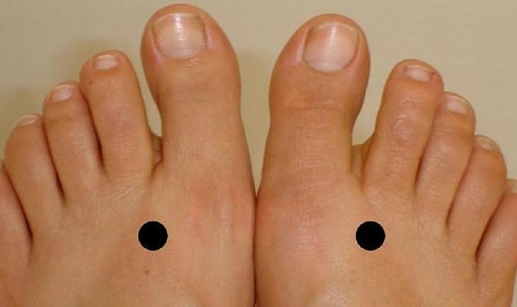 נקודות לחיצה לניקוי הגוף מרעלים: גאות גדולה (LIV-3)