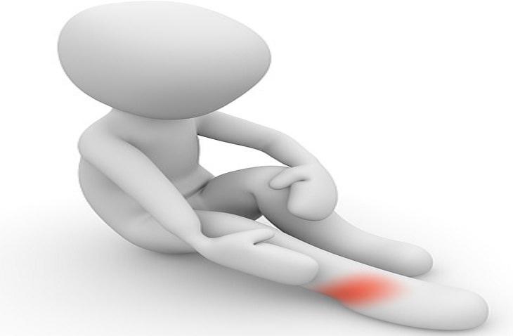 איור של כאב בקרסול