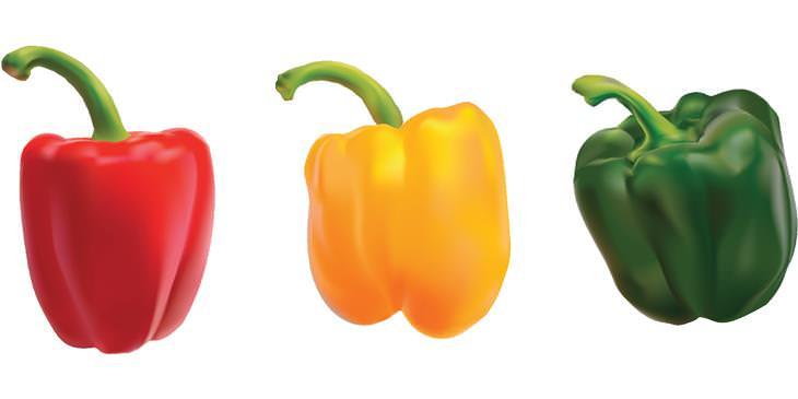 ירקות בגוונים שונים - איזה זן בריא יותר: גמבה ירוקה, אדומה וצהובה