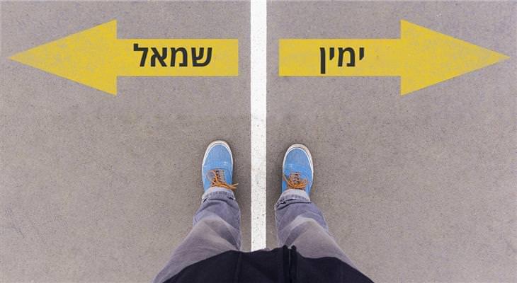 תיאוריות פסיכולוגיות שישנו לכם את החיים: איש עומד מול שני חצים שעליהם כתוב ימין ושמאל