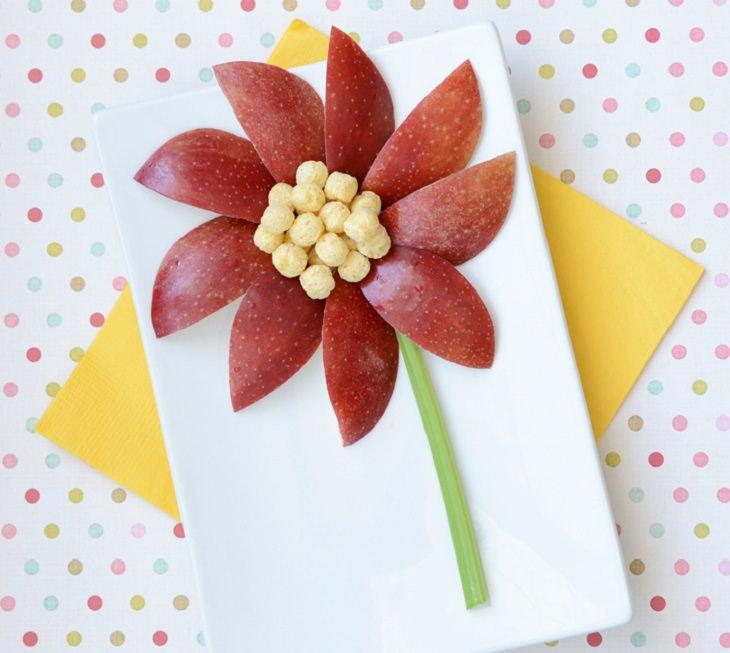 הצעות הגשה לאוכל בריא לילדים: פרח מתפוח, סלרי ודגנים