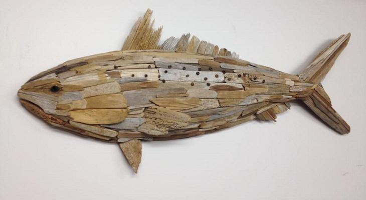 אומנות מדהימה מעצי סחף - דג