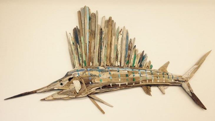 אומנות מדהימה מעצי סחף - דג חרב