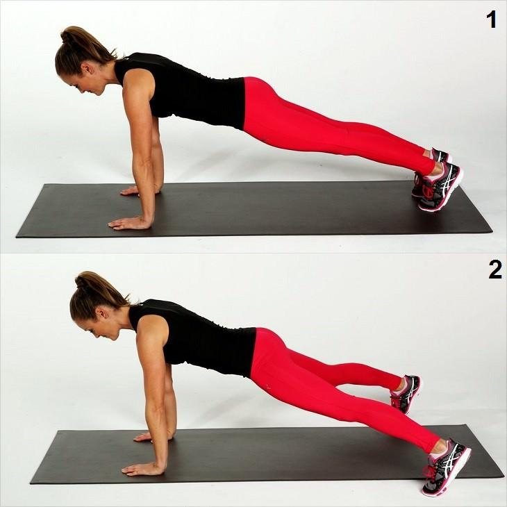 אימון של 20 דקות: אישה מבצעת פישוק מהיר של רגליים הצידה
