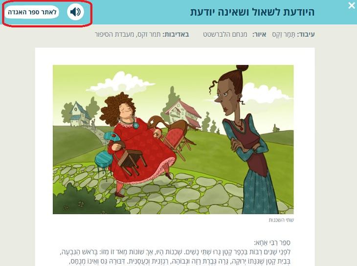 הוראות שימוש באתר ספר האגדה לילדים