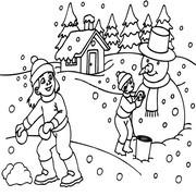 דפי צביעה לחורף