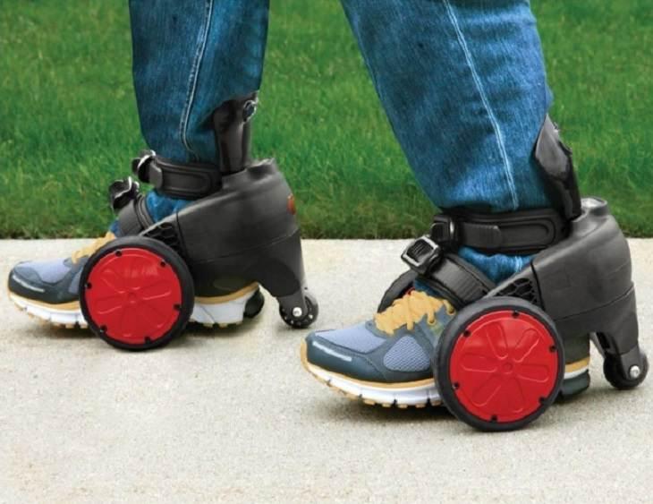 המצאות לעצלנים: נעליים עם גלגלים