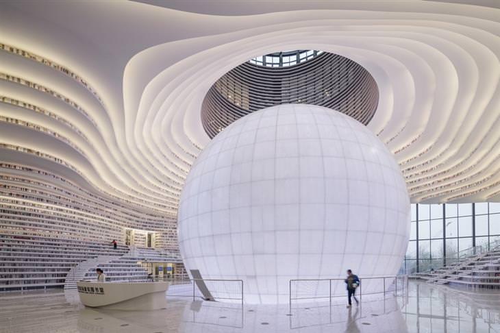 מבנים חדשניים של שנת 2017: הספרייה של המרכז התרבותי בינאהי