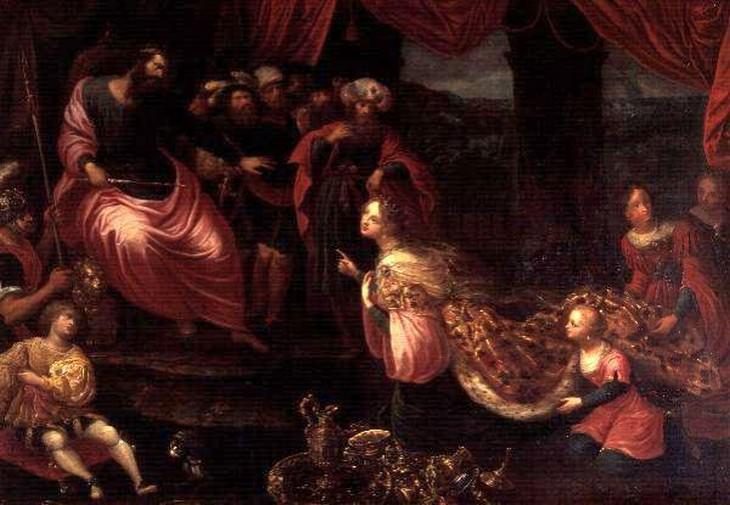 בדיחה על משפט של המלך שלמה: איור של המלך שלמה
