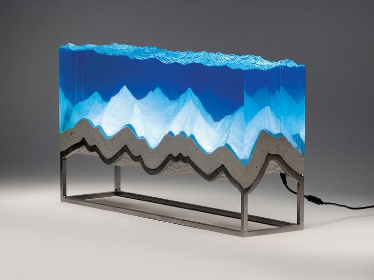 פסלי זכוכית, מתכת ובטון של בן יאנג