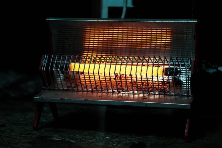 אזהרות בנוגע לתנורי חימום: תנור חימום