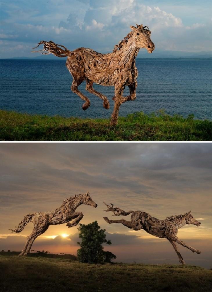 פסלי עץ מדהימים ומציאותיים