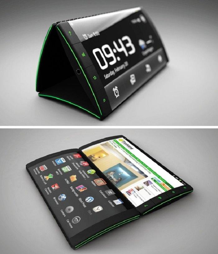 טלפון חכם בעיצוב משולש