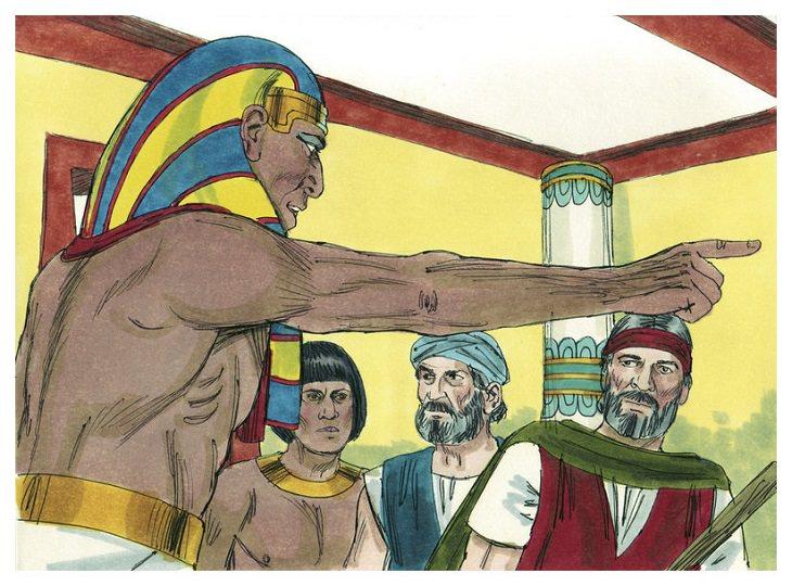 איור: פרעה מגרש את משה