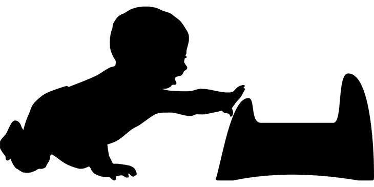 מדריך לגמילת ילדים מחיתולים: צללית של ילד מושיט יד לסיר לילה