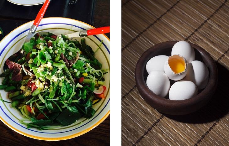 שילובי מזון לשמירה על המשקל: ביצים וסלט