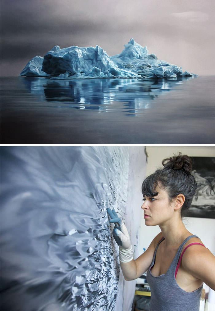 ציור באצבע, פסטל רך - Zaria Forman