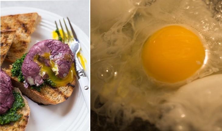 ביצים בציר וביצים מבושלות ביין