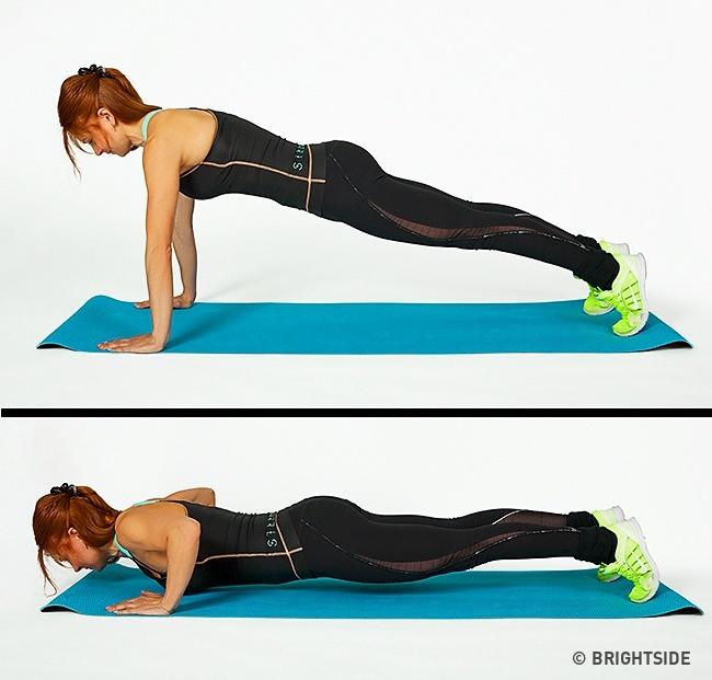 תוכנית אימונים לחיטוב הגוף: שכיבות סמיכה