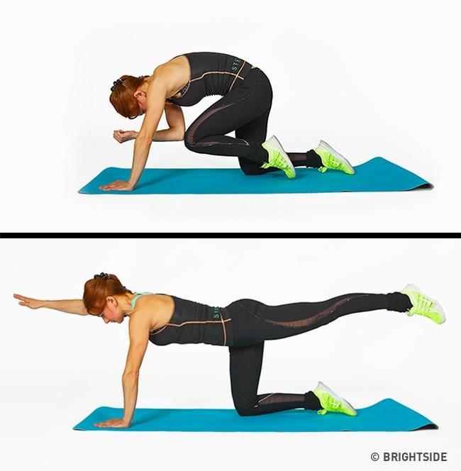 תוכנית אימונים לחיטוב הגוף: תרגיל לחיטוב הירכיים והישבן