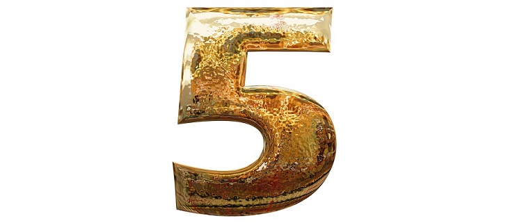 בדיחה: הספרה חמש מוזהבת