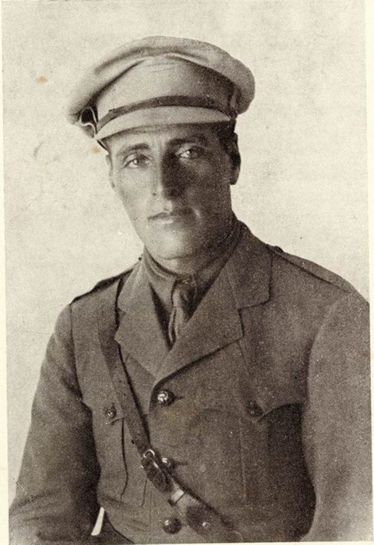 תמונות נדירות של אישים מההיסטוריה: יוסף טרומפלדור בזמן מלחמת העולם הראשונה
