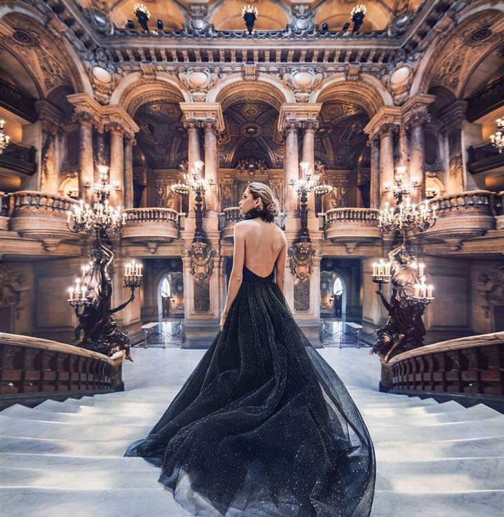 דוגמניות ונופים יפים: בניין האופרה גרנייה, פריז, צרפת