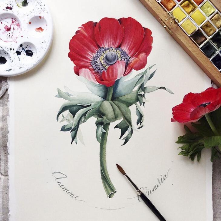 יצירות של האמנית אלנה לימקינה: פרח