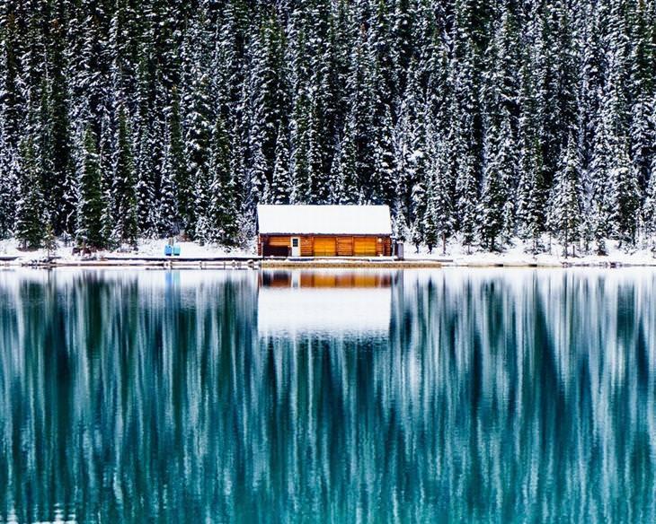 תמונות מדהימות של טבע ונוף: סופת שלגים בפארק הלאומי באנף באלברטה, קנדה