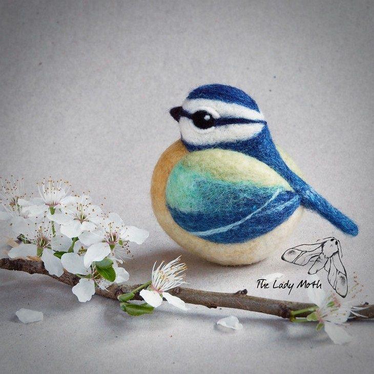 מוצרים מיוחדים מרקמת לבד: ציפור