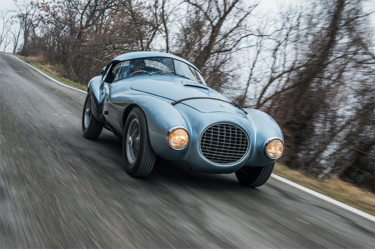 """המכוניות היקרות ביותר בשבוע הרכב במונטריי: פרארי 166MM/212 """"אובו"""" מקצועית של פונטנה"""