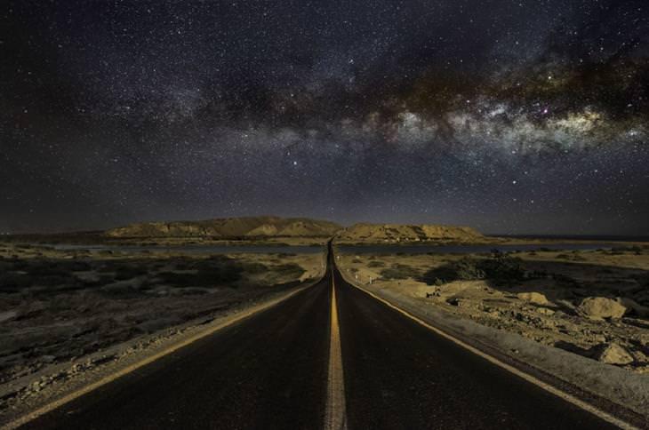 """תחרות צילומי לילה: """"דרך שביל החלב"""" של מסעוד ג'אדיריפר"""