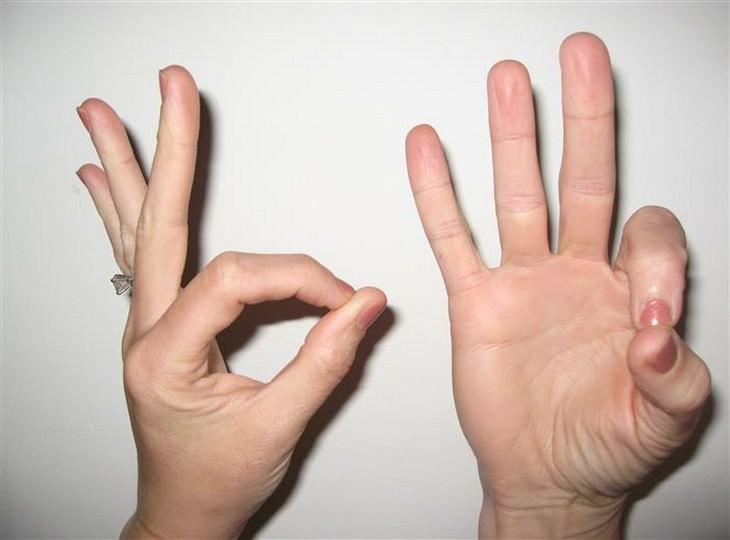 מהן מודרות וכיצד לבצע אותן: גיאן מודרה – קצה האצבע המורה נוגע בקצה האגודל בעוד ששאר האצבעות נשארות ישרות