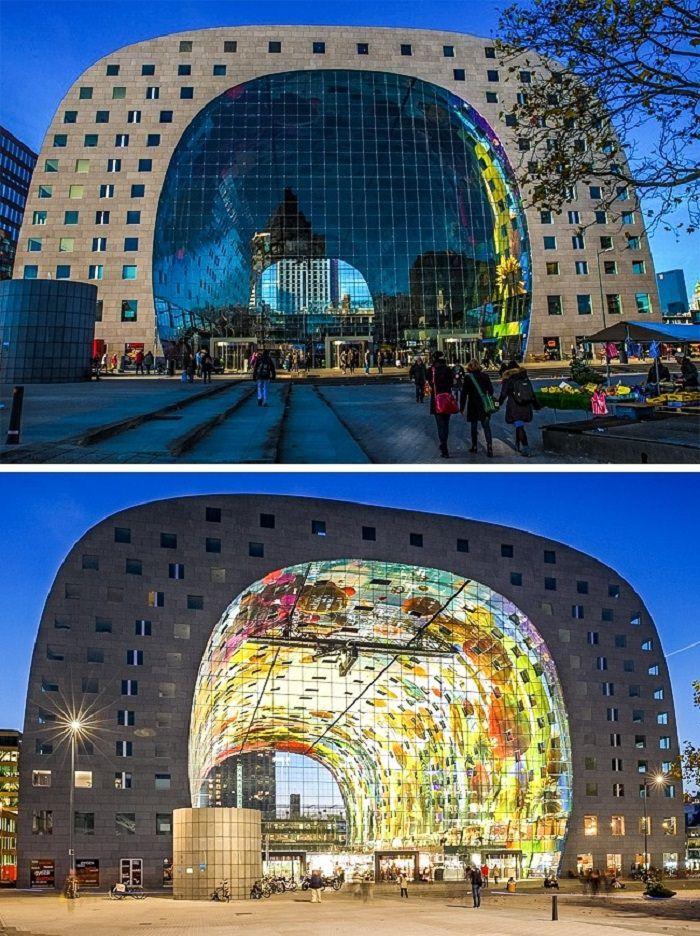 פלאי אדריכלות מודרניים - Markthal - רוטרדאם, הולנד