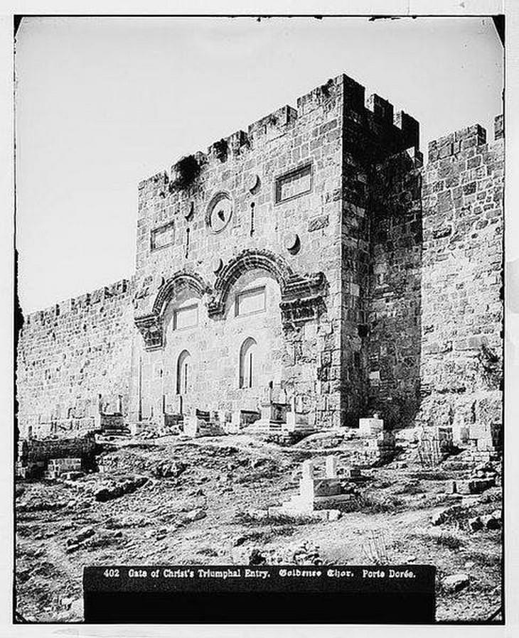 תמונות היסטוריות של ירושלים: שער הרחמים - קברים מוסלמיים