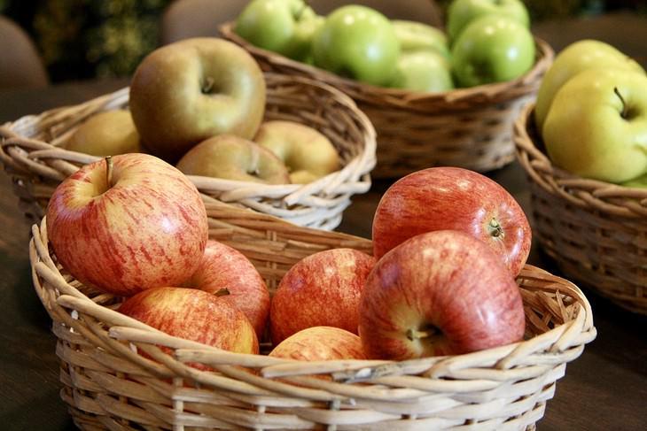 מדריך זנים של תפוחים: סלסלאות עם סוגים שונים של תפוחי עץ