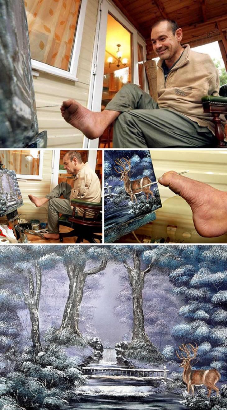 יצירות של אמנים בעלי מוגבלויות: פטר לונגסטאף ויצירותיו