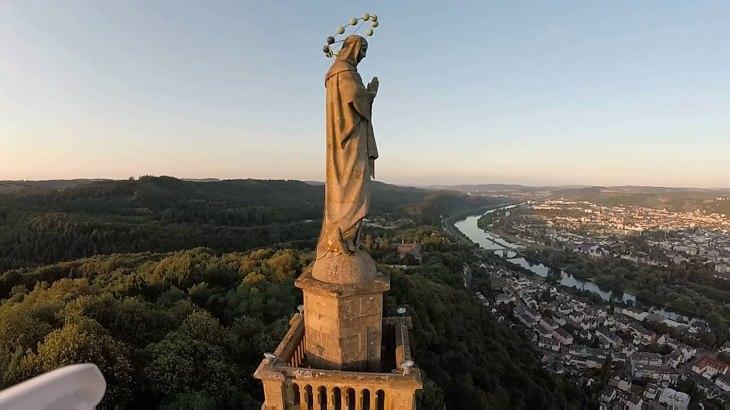 סיור בעיר העתיקה בגרמניה: מבט על טריר מלמעלה