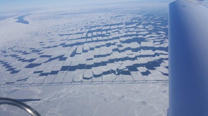 תמונות של שלמות: גשר הקונפדרציות בקנדה מכוסה קרח