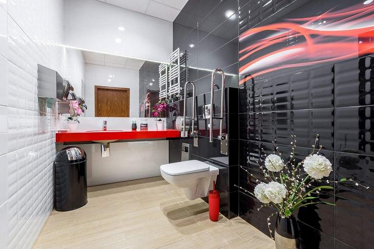 שירותים מונגשים: חדר שירותים גדול לנכים