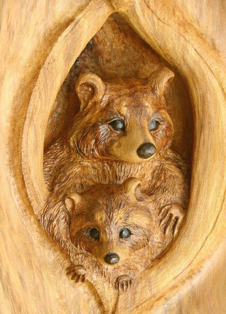 פסלים שמגולפים מעץ: דביבון