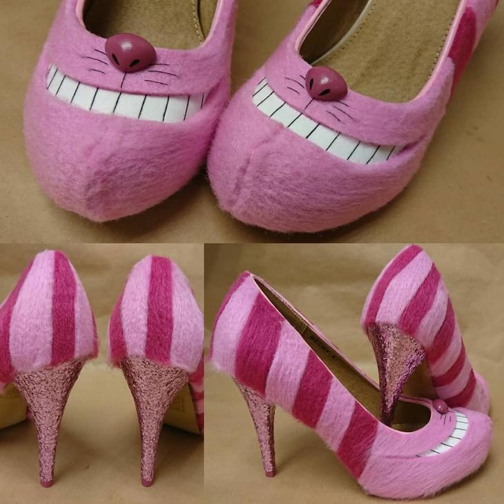 נעלי עקב מגוחכות: נעלי עקב בצורת חתול צ'שייר