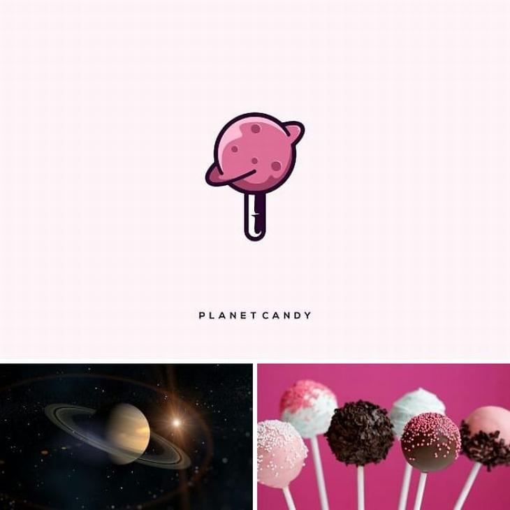 עיצובי לוגו מתוחכמים: שילוב של סוכריה על מקל וכוכב