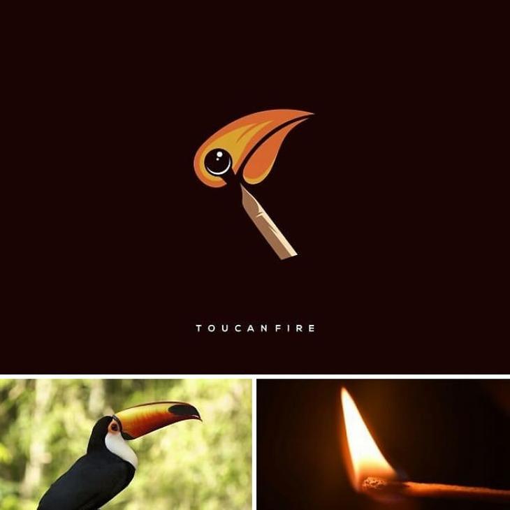 עיצובי לוגו מתוחכמים: שילוב של אש וטוקן