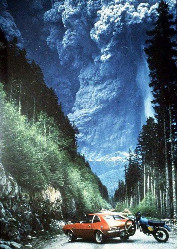 תמונות היסטוריות: הר הגעש סנט הלנס מתפרץ