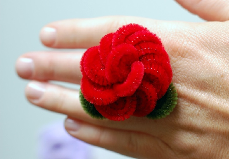 5 יצירות בעבודת יד: טבעת שושנה ממנקה מקטרות