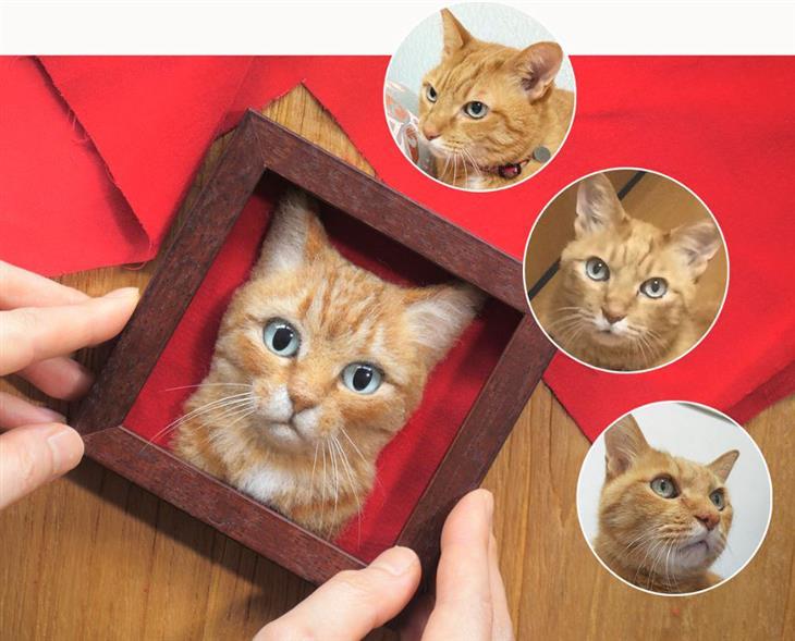 העתקים מושלמים של חתולים מבד לבד