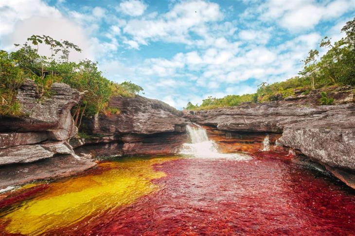תמונות טבע מדהימות: נהר בצבעים אדום וצהוב